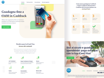 Italian Governative Cashback Initiative cashback payment ui design ux ui design landing page design illustration ux  ui webdesign landing page design
