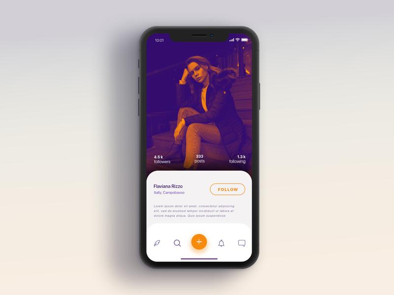 Social Application ui  ux mock up mock mobile app social app