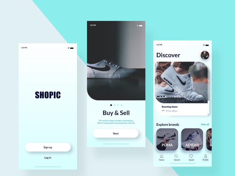 Shopics mobile app mobile ux design ux ux  ui app