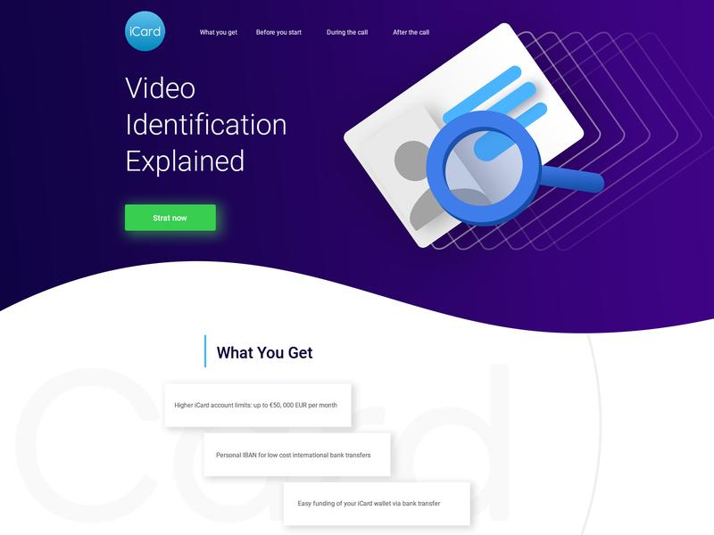 Video Identification Explained Page design card mock up typography illustration ui logo ux ux  ui ux ui design design