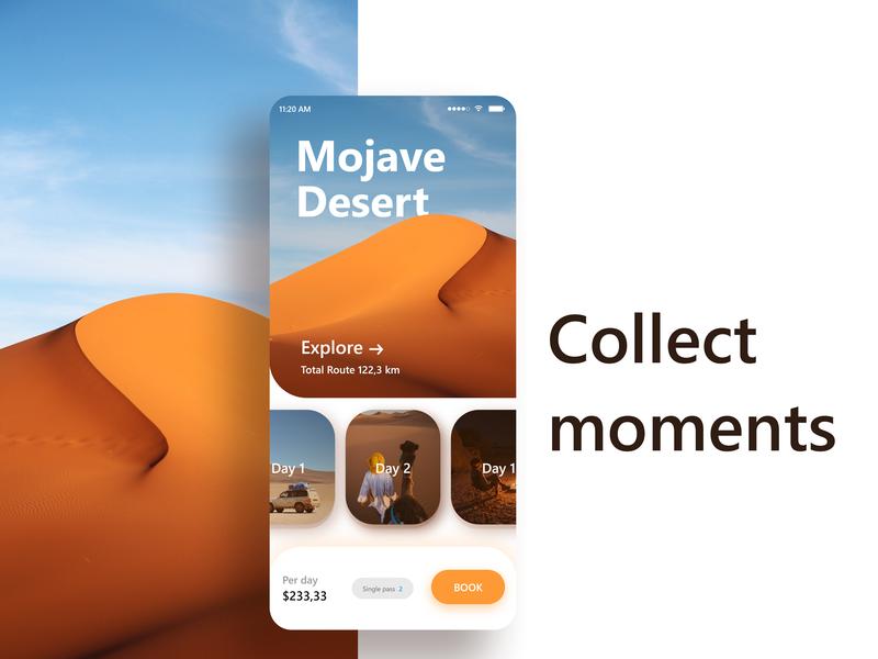 Mojave Desert desert app design graphic ui mobile mock up app ux  ui ux ux ui design design inspiration