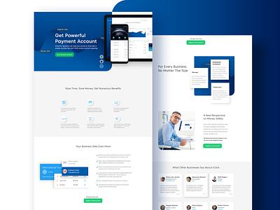 Portfolio Affiliate Business Page business design webdesign web mock up ux ui design ui
