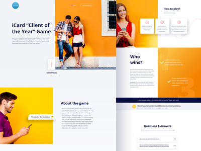 New Project- Client of the year landing page design landingpage landing design web design webdesig website game mock up ui design card landing page graphic illustration ux  ui ux ux ui design design