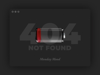404 Monday 404 page low battery mondays not found 404 design 404 error