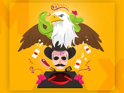 México ♥ totem culture traditions mexican dia de muertos catrina mexican beer carta blanca carne asada nopal bandera de mexico mexican flag serpiente serpent aguila eagle norteño north mexico
