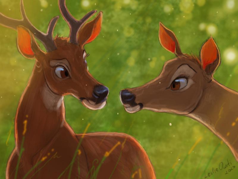 Fawning in love deer fawninginlove leslieowiti animation characterdesigm