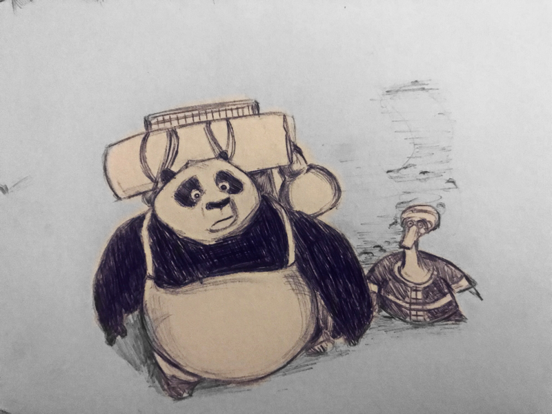 Kung Fu Panda animation dreamworks kungfupanda sketch illustration