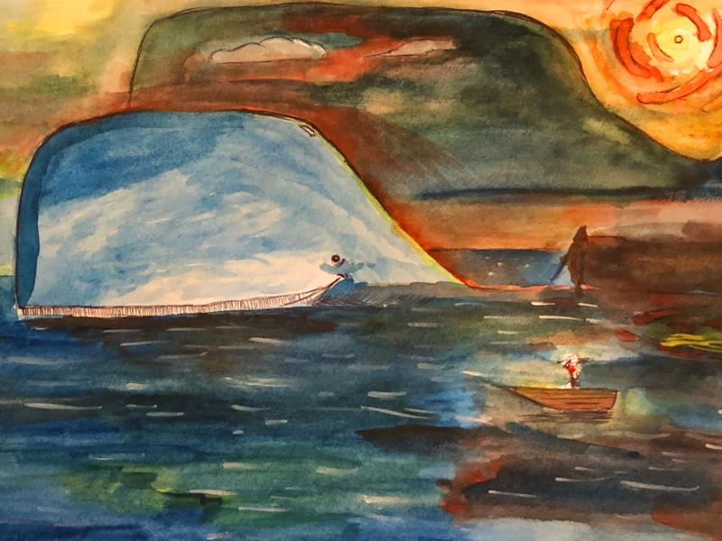Whale whale whale. kuriaowiti watercolor whale
