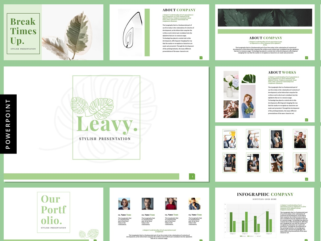 Leavy - Presentation Templates by feydesign on Dribbble