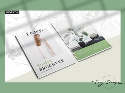 Leavy - Multipurpose Brochure multi purpose nature feminime branding feydesign brochure layout annual report annualreport annual template magazine brochure design brochure