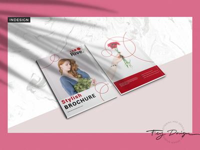 Rive - Multipurpose Brochure vector logo feminime letter a4 brochure template template annual report annualreport annual brochure magazine feydesign design clean