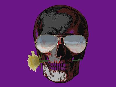 the dark rider art glasses rose skull
