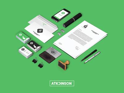 Green Light Management Luxembourg smartphone envelope letterhead stamp business cards stationery logo identity branding graphic design nsjatkinson