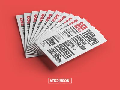 Ska Night Vol.3 bands promotion advertising music festival typography print flyer poster graphic design nsjatkinson