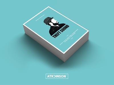 Theft Sound Tour promotion advertising tour print flyer poster silhouette drawing illustration graphic design nsjatkinson