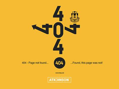 404 - Page Not Found error message 404 web design digital art typography graphic design nsjatkinson