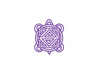 Luksi (turtle in Choctaw) logo turtle choctaw purple monowidth