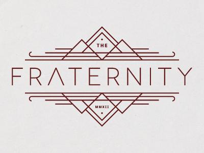 The Fraternity logo vector line