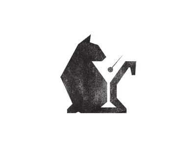 Black Cat Lounge logo vector cat