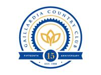 Gaillardia Seal circle seal anniversary number logo crest