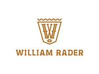 William Rader logo magician initial monogram w crest custom seal