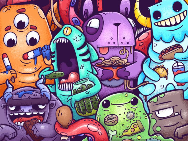 Monster Meals By Scott Ulliman On Dribbble
