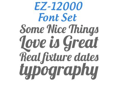 Ez 12000 Font Set otf ttf type print font fonts typography