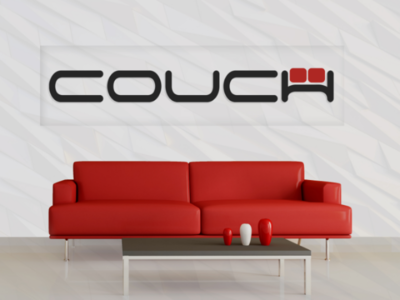 COUCH letter mark logo sofa logo couch letter mark letter logo couch logo