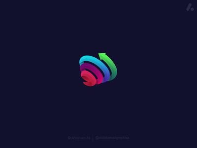 spiral/funnel marketing logo concept