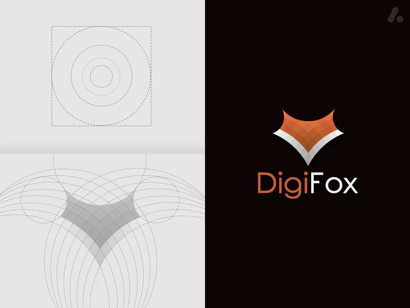 fox logo design digital fox logo digital fox digital logo animal logo fox logo