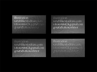 Business cards for the sister typography monogram emboss foil design business card