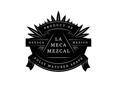 La Meca Outtakes illustration lockup mezcal mexico agave killed branding logo design typography type logo