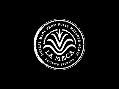 La Meca Outtake agave mexico mezcal handlettering lettering logotype badge design logodesign branding type typogaphy illustration icon lockup logo