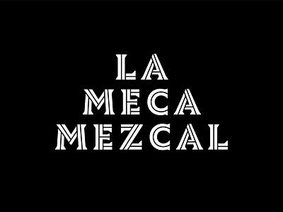 La Meca Outtake inline serif mexico mezcal agave vector type logotype design custom logo branding typography