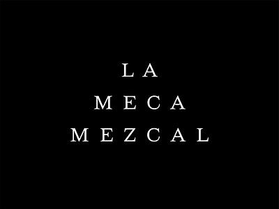 La Meca Outtake serif typeface font agave mexico mezcal logotype design brand lockup stack logo branding type typography