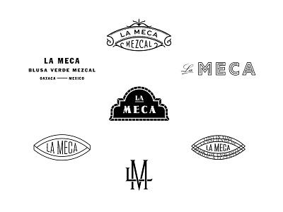 La Meca Outtakes sans serif serif mezcal mexico badge seal lockup agave ornate filigree logotype design script monogram logo branding handlettering type lettering typography
