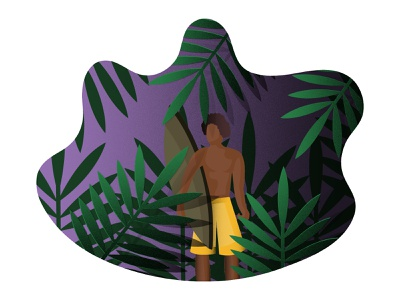 surfer. watchout gradient effect grain picture palmtree palm designer darkskin violet grean adobeilustrator ilustration surfboard surfer man
