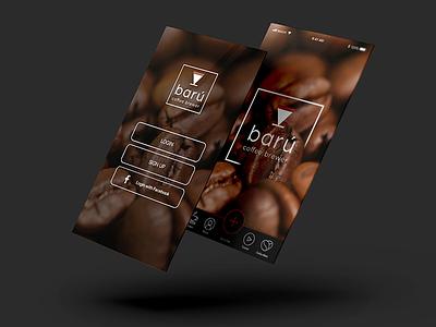 Barú Coffee Logging & Tutorial Guide sign in coffee mobile app ui design