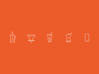 3 in 1 Coffee Brewer with Grinder & Coffee App illustration iconography