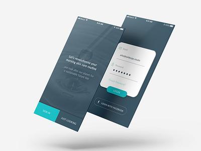 Revolver Login UI app mobile login digital design ui ui design
