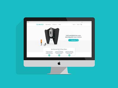 Revolver Web Hompage - Product & Subscription brand identity imac ui design digital design
