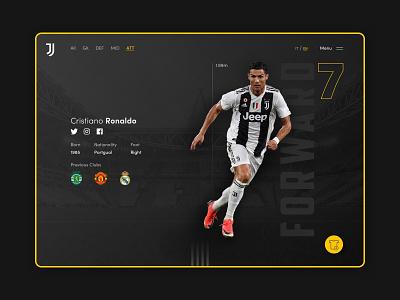 Cristiano Ronaldo - CR7 branding artwork data design football ux design brand identity digital design ui design