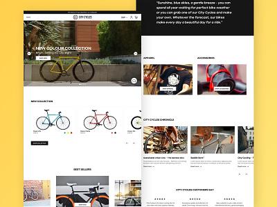 City Cycles - Shopify Plus sketch ecommerce shopify branding ux design digital design webdesign ui design