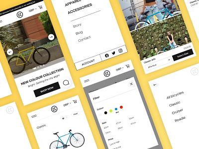 City Cycles ecommerce webdesign mobile app ux design brand identity digital design ui design