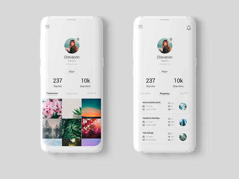 Daily UI #006 - User Profile adobexd app ilustracion interface ux ai ui