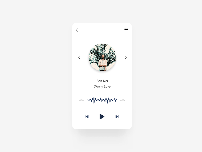 Daily UI #009 - Music Player app screens ux ui design