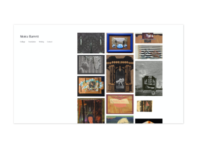 Moira Barrett - Collage artist landing page website