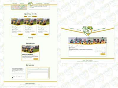 Berlin Crocodiles - Website sports team australian sports club sports landing page website