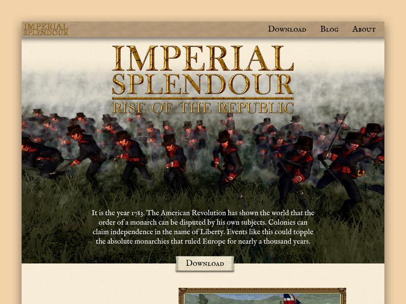 Imperial Splendour Website Homepage landing page homepage website