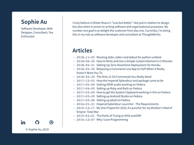 My Personal Homepage portfolio website homepage landing page